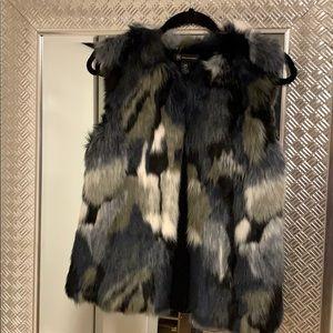 INC Faux Fur Vest